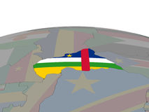 Central Africa with flag Royalty Free Stock Photography