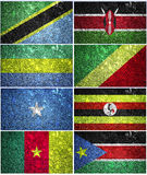 Central Africa flags part 1 Stock Photos