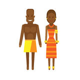 Central africa national dress Royalty Free Stock Image