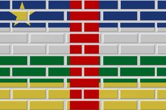 Central African Republic brick flag illustration royalty free illustration