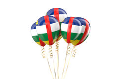 Central African Republic CAR patriotic balloons holyday concept Royalty Free Stock Photo