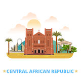 Central African Republic design template Flat cart Royalty Free Stock Images