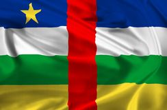 Central African Republic-flag Stock Photos