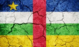 Central African Republic flag royalty free stock images
