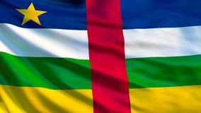 Central African Republic flag. 3d illustration stock illustration