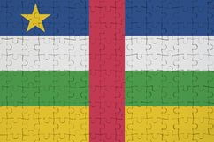 Central African Republic flag is depicted on a folded puzzle vector illustration