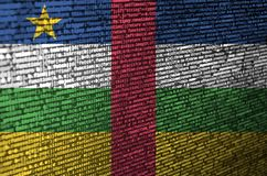 Central African Republic flag is depicted on the screen with the program code. The concept of modern technology and site. Development royalty free illustration