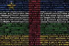 Central African Republic flag is depicted on the screen with the program code. The concept of modern technology and site. Development vector illustration