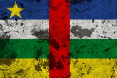 Central African Republic flag on old wall royalty free illustration