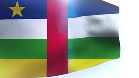 Central African Republic flag waving in the wind. Video stock footage