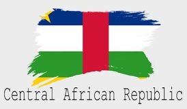 Central African Republic flag on white background stock illustration
