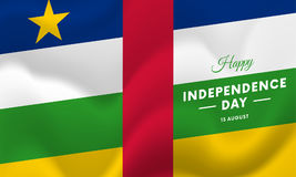 Central African Republic Independence Day. 13 august. Waving flag. Vector. Central African Republic Independence Day. 13 august. Waving flag. Vector royalty free illustration