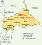 Central African Republic - map - vector Stock Image