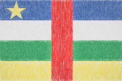 Central African Republic painted flag stock illustration
