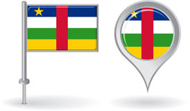 Central African Republic pin icon and map pointer Stock Image