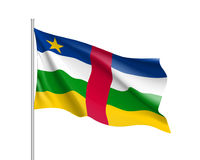 Central African Republic realistic flag royalty free illustration