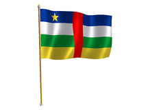Central African Republic silk flag Royalty Free Stock Image