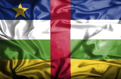 Central African Republic waving flag royalty free stock photography