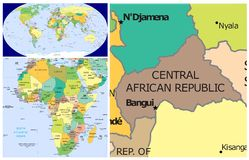 Central African Republic & World Stock Image