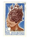 Central african stamp Royalty Free Stock Photography