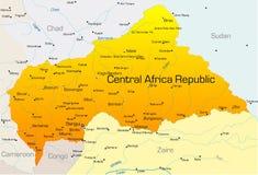 Central Afrika republik royaltyfri illustrationer