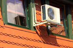 Central air conditioning on the attic Stock Photos
