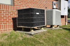 Central air conditioning unit Stock Photography