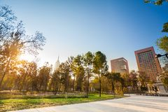 Central Alameda park in Mexico city downtown Stock Image