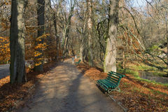 Central Alley in park  Sofiyivka.  Uman city, Ukraine Stock Images
