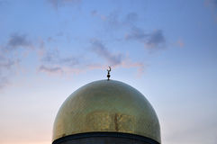Central Almaty Mosque dome Royalty Free Stock Photos