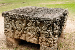 Central America, Copan Mayan ruins in Honduras. Central America, Honduras, Mayan city ruins in Copan. The picture presents detail of the Altar Q, a rectangular Stock Images