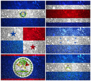 Central America Flags Royalty Free Stock Photography