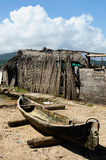 Central America, Panama, traditional house of boat of the San Blas archipelago Royalty Free Stock Photos