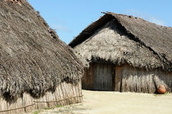 Central America, Panama, traditional house of residents of the San Blas archipelago Royalty Free Stock Images