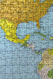 Central America puzzle Stock Images