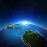Central America. From space. Elements of this image furnished by NASA Royalty Free Stock Image