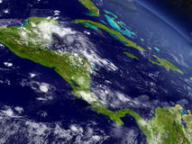 Central America from space Royalty Free Stock Photography