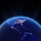Central America and USA city lights at night. Elements of this image furnished by NASA stock illustration