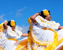 Central American Folk Dancers Royalty Free Stock Photo