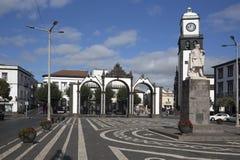 The central area of Ponta Delgada, Azores Royalty Free Stock Image