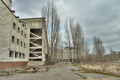 Central area of Pripyat Stock Photo