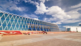 Central Asia, Kazakhstan, Astana, Palace of Independence timelapse hyperlapse. With cloudy sky at summer day stock video