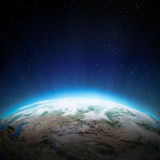 Central Asia lights at night Royalty Free Stock Photos