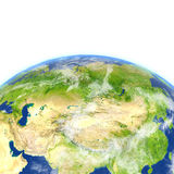 Central Asia on planet Earth royalty free illustration