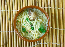 Central Asian noodle dish Royalty Free Stock Photos