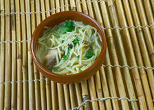 Central Asian noodle dish Royalty Free Stock Image