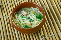 Central Asian noodle dish Stock Image