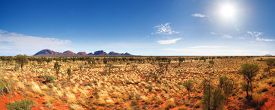 Central Australia Panorama Royalty Free Stock Images