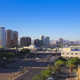 A Central Avenue, Phoenix, Arizona, Skyscrapers Shot Royalty Free Stock Image