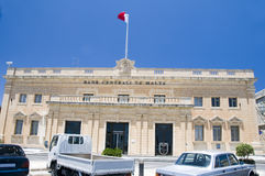 Central bank of malta valletta. The central bank of malta in valletta capital next to prime minister's office and palace Royalty Free Stock Photography
